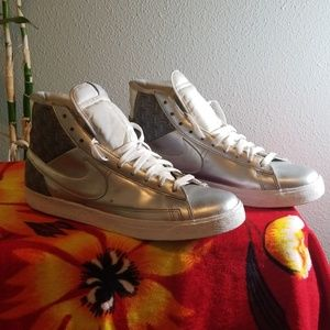Nike Silver Blazzzer High Tops